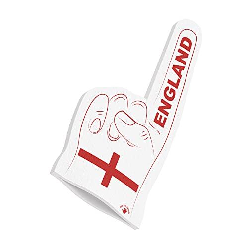 HIGH FIVE FINGERS England Europameisterschaft Olympiade Fahne | Schaumstoff Hand für Spiele, Stadion und Events | One Size | 44 x 22 x 2,5 cm | England