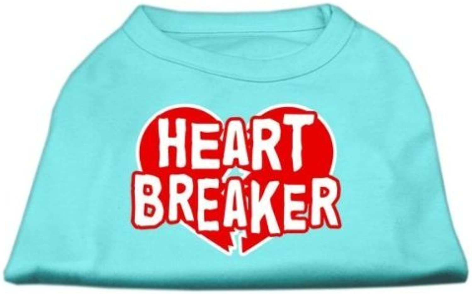 Mirage Pet Products 10Inch Heart Breaker Screen Print Shirt for Pets, Small, Aqua by Mirage Pet Products