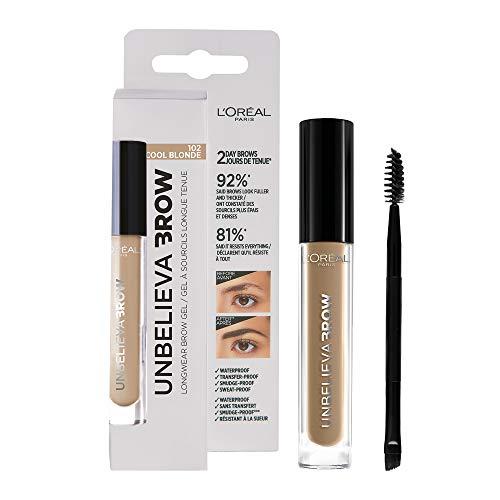 L'Oréal Paris Crayon à Sourcils Longue Tenue Waterproof Unbelievabrow, Cool Blonde 102, 3.4 ml, 1 Unité