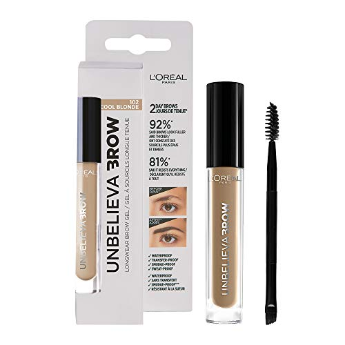 L'Oréal Paris - Crayon à Sourcils Longue Tenue Waterproof - Unbelievabrow - Couleur : Cool Blonde (102) - 3.4 ml