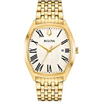Bulova 97B174 Analog Display Quartz Gold Men's Watch