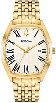 Bulova Analog Display Quartz Gold Men's Watch