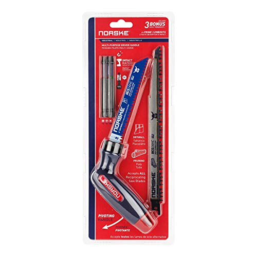 Norske Tools NIBPP701 Screwdriver Multitool Set with Free 3-1/2 inch Impact Torsion Bits and German Made Recip Saw Blades