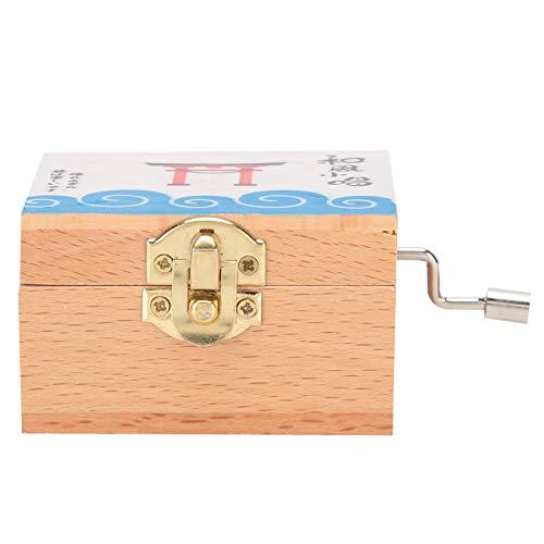 Agatige Caja de música de Madera, Caja de música de manivela para Regalo de cumpleaños, decoración de Ministerio del Interior