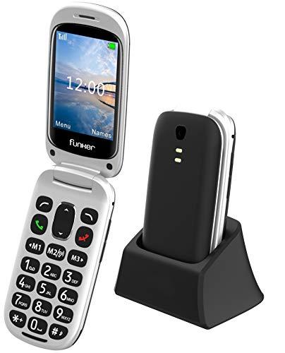 Funker E100 MAX Audio, Teléfono Móvil para Personas Mayores con Sistema Audio...
