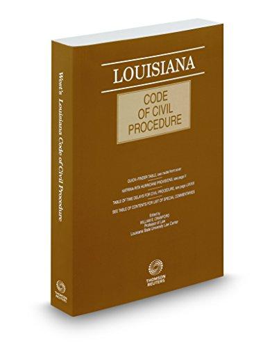 Louisiana Code of Civil Procedure, 2018 ed.