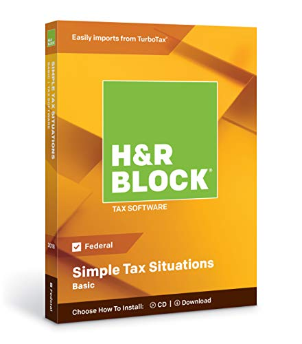 H&R Block Tax Software Basic 2018 (Pc)
