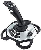 Logitech G Extreme 3D PRO Joystick, 12 Programmeerbare Knoppen, 8-wegs schakelaar, verzwaarde basis, knop voor snelvuur,...