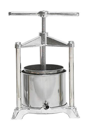 Pavi - Prensador de alimentos de aluminio fundido a presión con recogedor de acero inoxidable