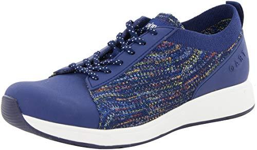 TRAQ BY ALEGRIA Qest Womens Smart Walking Shoe Navy Multi 9 M US