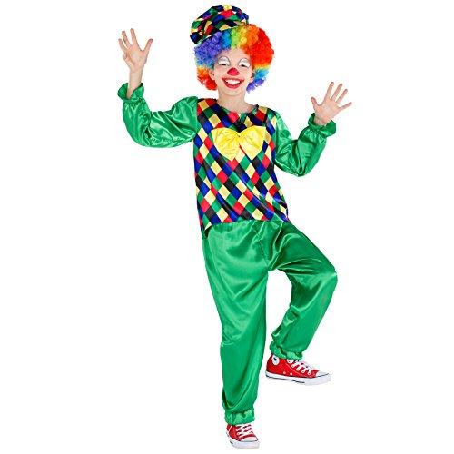 TecTake dressforfun Jungenkostüm Clown Freddy   Oberteil mit aufgenähter Fliege   inkl. Schildkappe (7-8 Jahre   Nr 300798)