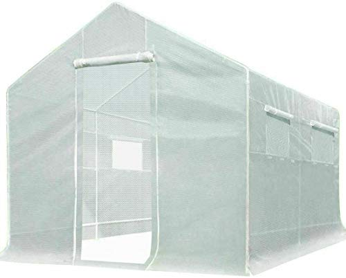 Quictent 10x9x8 ft Portable Tunnel Greenhouse for Outdoors 2 Zipper Mesh Doors Large Walk-in Garden Plant Greenhouse with 12 Stakes