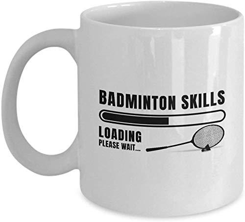 Badminton Skills Loading Please Wait. Coffee Mug Cup 11oz