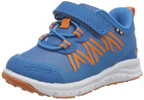 viking Unisex-Kinder Holmen Sneaker, Blau (Blue/Orange 3531), 28 EU
