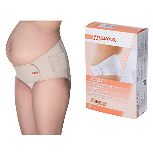 Lauma Medical Cintura di supporto per gravidanza, Pancia maternità, Fasciatura addominale maternità regolabile supporto bacino e schiena, Fascia Prenatale Post-natale di supporto per la pancia