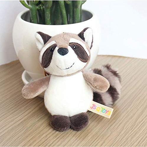baiyinlongshop Cute Cartoon Animal Plush Toy Keychain Backpack Bag Keychain Small Gift Couple Shiba Inu Bulldog Cat Penguin Fox 15Cm