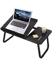 Laptoptafel Opvouwbare Lap Desk Stand, Verstelbare Laptoptafel Voor Bed Notebook Desk Portable Notebook Bed Tray Multifunctionele Lap Tablet met Bekerhouder