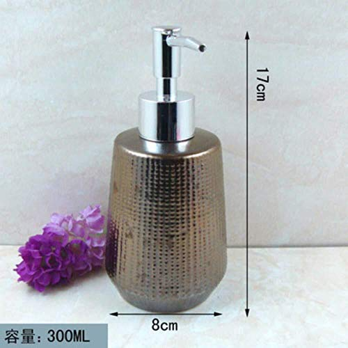PGS Vloeibare Zeep Container, Navulbare Retro Industriële Keramiek Shampoo Vloeibare Hand Sanitizer Fles, Voor Keuken Badkamer Vintage Zeep Dispenser, 300ml