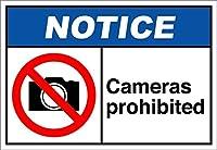 ヴィンテージの複製看板カメラ禁止通知-Style1021不動産通知の金属の面白い警告標識家の装飾の看板面白いパブの家の装飾アルミニウムの金属看板