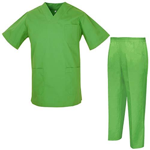 MISEMIYA - Unisex-Schrubb-Set - Medizinische Uniform mit Oberteil und Hose ref.8178 - XX-Large, Apple Green