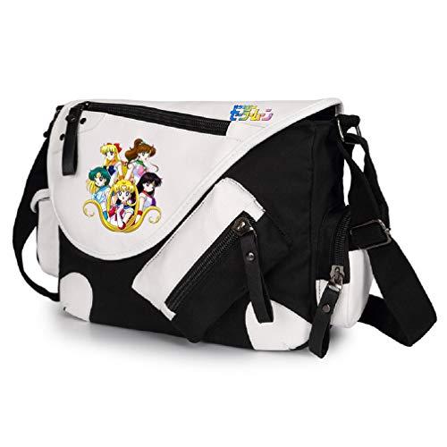 YOYOSHome Anime Sailor Moon Cosplay Messenger Bag Handtasche Crossbody Rucksack Schultasche Umhängetasche