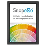 SnapeZo Poster Frame A2 Size (16.5 x 23.4 inches), Black 1 Inch Aluminum...