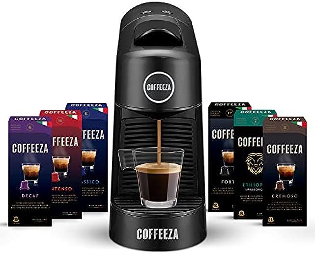 Coffeeza Finero Coffee Making Machine, Premium Espresso & Americano Maker Machine Using Pods Capsules, Nespresso Capsule Pod Compatible, 19Bar Pressure, 1Year Warranty on All Makers Machines