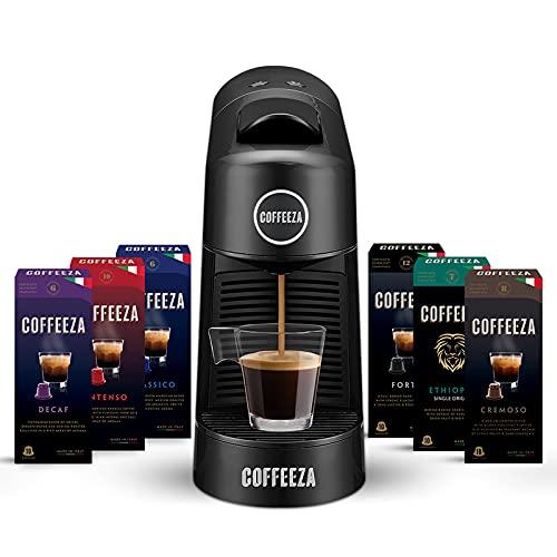 Coffeeza Finero Coffee Making Machine, Premium Espresso & Americano Maker Machine Using Pods Capsules, Nespresso Capsule Pod...