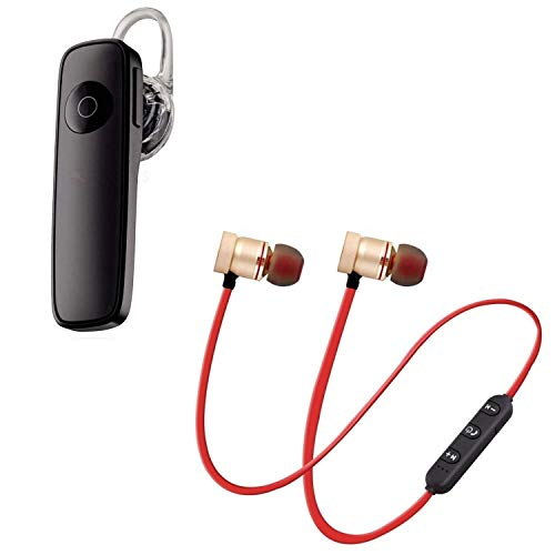 GO SHOPS k1 Bluetooth 4.1 Wireless Headset, Noise Canceling Hands-Free with Magnetic Wireless Bluetooth Sport in-Ear Earbuds & Mic Compatible with All Smartphones (Assorted Colour) 1
