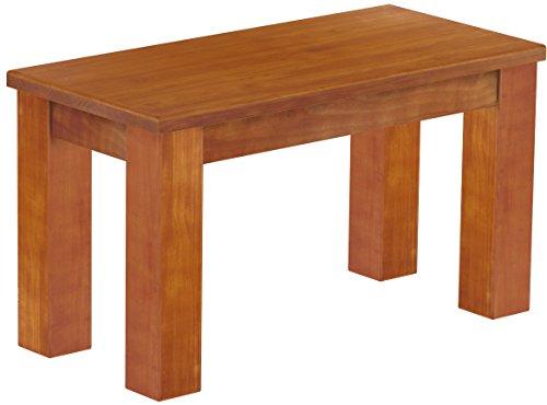Brasilmöbel Sitzbank 'Rio Classico' 80 cm, Pinie Massivholz, Farbton Kirschbaum