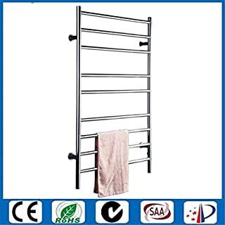 with Switch Heating Towel Rod Electric Towel Rack Stainless Steel Polished Radiator Bathroom