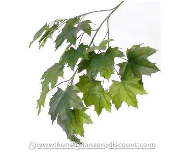 Mischwaldbaum Ahornzweig mit 23 unterschiedlich grünen Blättern, Gesamtlänge inkl. Stiel ca. 80cm, schwer entflammbar - künstliche Zweige, Kunstpflanzen, künstliche Pflanzenzweige, Kunstzweige, Dekozweige, Bühnendekoration, Theatheraufführung Edellau