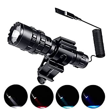 Cazoud Tactical Flashlights Bright LED Rechargeable Tactical Flashlight with 1600 Lumen Picatinny Rail Mount and USB Rechargeable Battery The Flashlight for Rifle Pistol Hunting and Military.