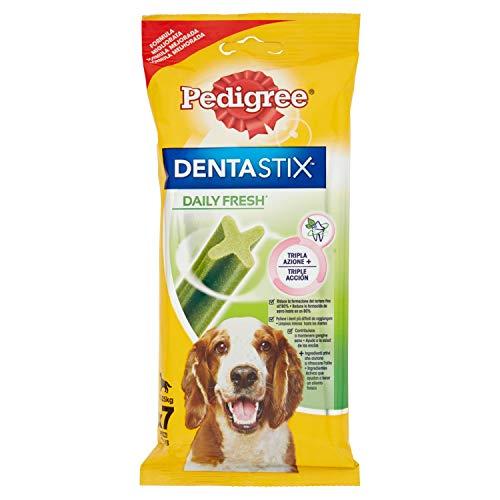 Pedigree Pack de Dentastix Fresh de uso Diario para la Limpieza Dental y Contra el Mal Aliento de Perros Medianos (7ud)