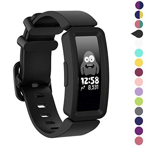 Vozehui kompatibel mit Fitbit Ace 2 Armband für Kinder 6+, weiches Silikonarmband Zubehör Uhrenarmband Repalcement Armband, Bunte Sport Armbänder für Fitbit Ace 2 / Inspire HR für Jungen Mädchen