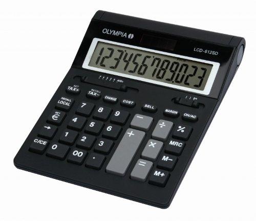 Olympia 941911006 Tischrechner LCD612SD 12 stelliges Display schwarz