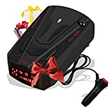 Radar Detector for Cars, Laser Radar Detectors, Voice Prompt Speed, Vehicle Speed Alarm System, Led Display, City/Highway Mode, Car 360 Degree Automatic Detection (Black)