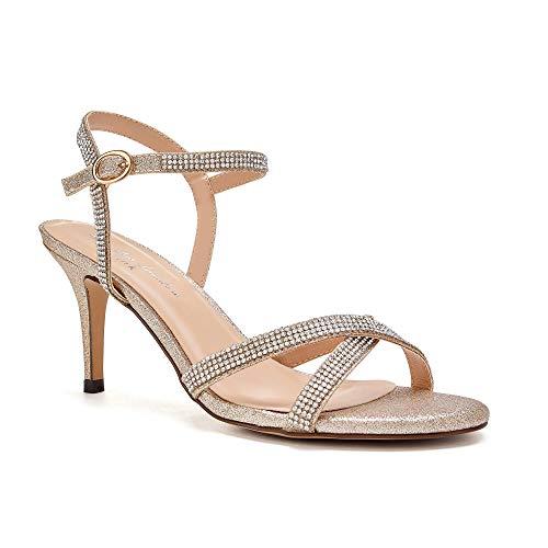 Paradox London roze vrouwen Riva enkel riem sandalen