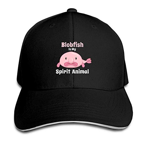 Men Women My Animal Blobfish Snapback Vintage Golf Baseball Cap Adjustable Fitted Dad Trucker Hat Black