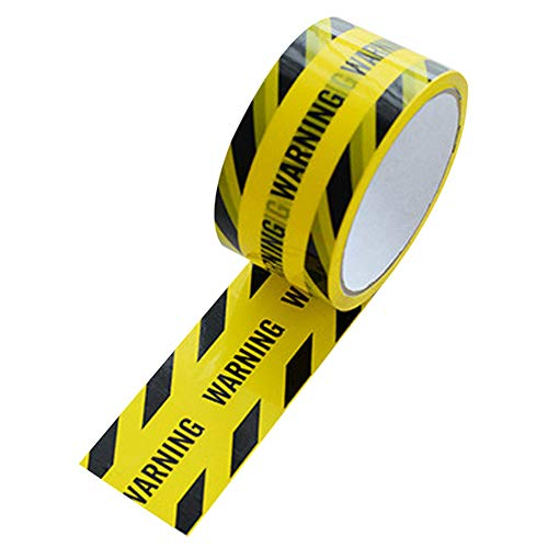 """Wei&KYNM Black and Yellow Hazard Warning Safety Stripe Tape • 2"""" x 36 Yds • Ideal for Walls, Floors, Pipes and Equipment"""