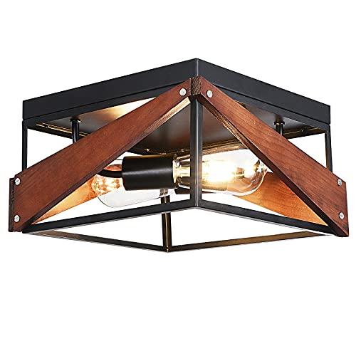Flush Mount Ceiling Light Fixture,Two-Light Farmhouse Flush Mount Light...