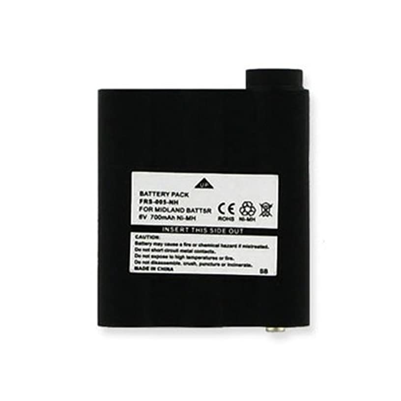 Midland HH54VP 2-Way Radio Battery (Ni-MH 6V 700mAh) Rechargeable Battery - Replacement for Midland BATT5R