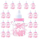 Jonami Madchen Süßigkeiten Box 18 Flasche Rosa, Babyparty Deko Mädchen, Baby Shower, Baby Party Pink Dekoration Box Gastegeschenke Taufe Geschenkpaket (4cm*4cm*9cm) -18 STK-