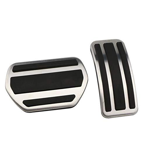 Pedales para Coche Gas Modificado Plate Pad Pedal para 207 301 307 208 2008 308 408 para C3 C4 para DS 3 4 6 DS3 DS4 DS6 Coche Pedal ReposapiéS (Color : AT)