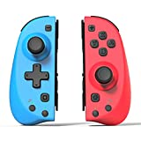 Wireless Custom Switch Joy Pad Controllers L/R Left and Right Remotes Compatible for Nintendo Switch Joy-Con's Replacement-Red/Blue