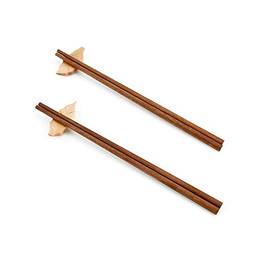 Cooking Chopsticks Naturally Unpainted 10 Pairs Reusable (Hardwood)