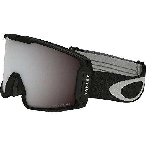 Oakley Men's Line Miner Snow Goggles, Matte Black, Prizm Black Iridium, Large