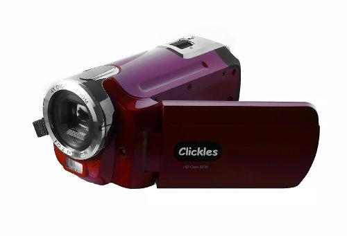 Clickles HDV-Camcorder, 5030 Digitaler HD-Display, LCD, 2,7 Zoll Display, 5 Megapixel, Zoom 4 x HDMI, USB 2.0, Rot