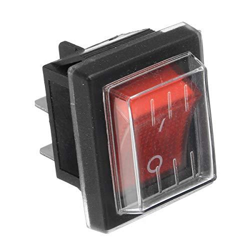 Interruptores 220V16A 20A 125V ON/OFF interruptor rojo de repuesto impermeable interruptor para máquinas industriales de succión de vacío.