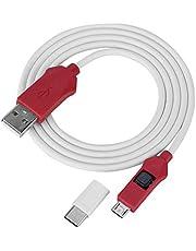 Kafuty głęboki kabel flash do modeli telefonów Xiaomi otwarty port 9008 TypeC adapter do inżynierii zamków BL (biały czerwony)